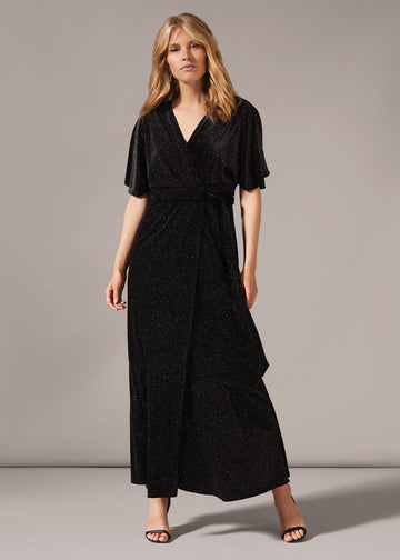 Robynne Sparkle wrap Maxi Dress