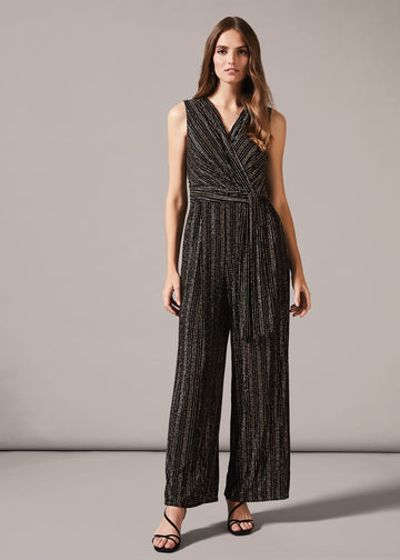 Roxy Gold Stripe Jumpsuit