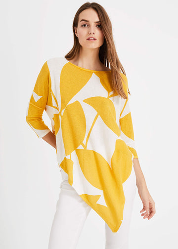 Lamona Printed Knitted Top