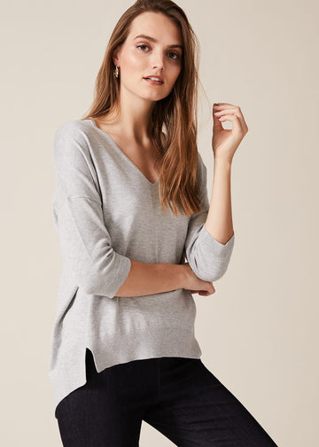 Estel V-Neck Knitted Top