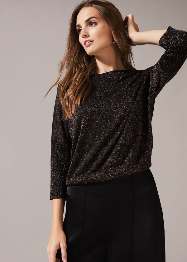 Allison Shimmer Knit Top