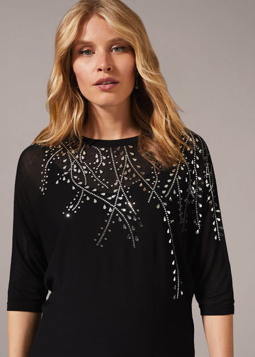 Mazy Mirror Knit Top