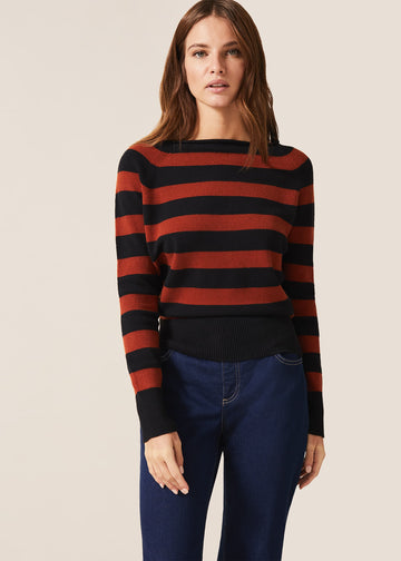 Svea Stripe Knit Top