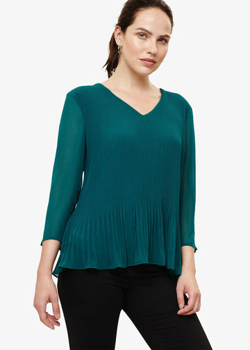 Ella Pleat Blouse