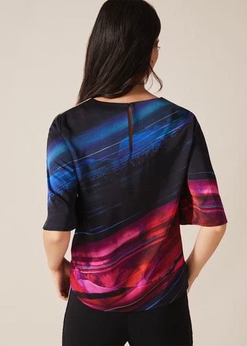 Sena Diamante Print Blouse