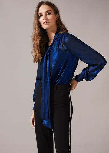 Khalia Metallic Blouse