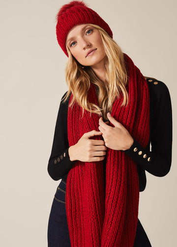 Caris Cable Knit Scarf