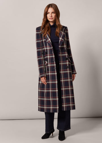 Candice Check Coat