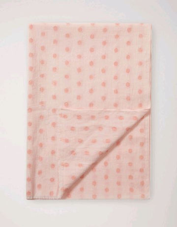 Soft Cotton Lurex Spot Scarf