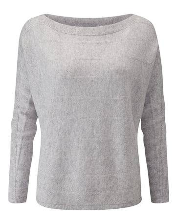Cashmere Dolman Sleeve Textured Sweater