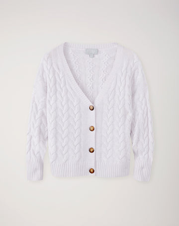 Relaxed Cable Cardigan