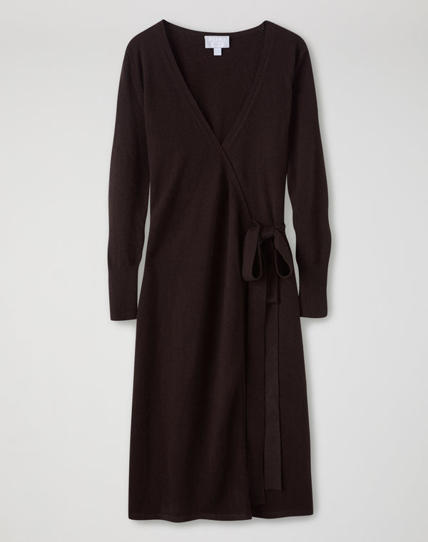 Cashmere Knitted Wrap Dress