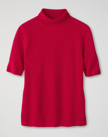 Ribbed Roll Neck T-Shirt
