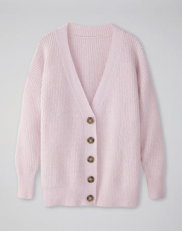 Ribbed Brushed Cardigan