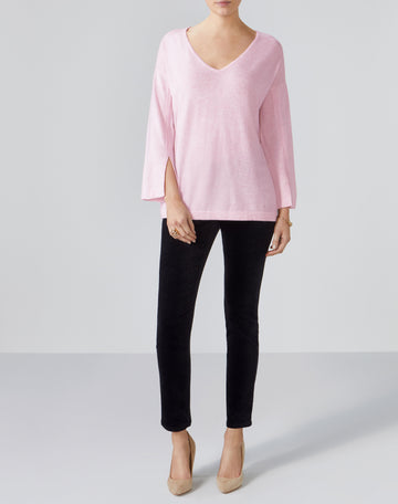 Split Sleeve Relaxed Sweater