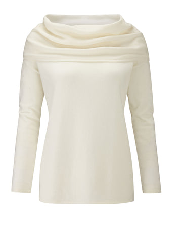 Wide Bardot Cashmere Sweater
