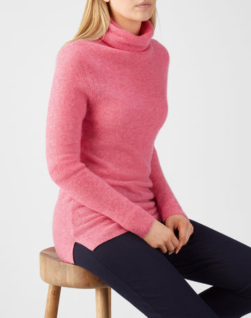 Gassato Textured Roll Neck Sweater