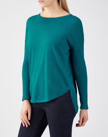 Ultra Soft Merino Split Back Sweater