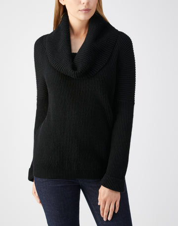 Toccato Ribbed Cowl Neck Sweater