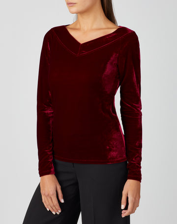 Jersey Deep Neck Top