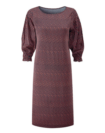 Pintuck Sleeve Dress