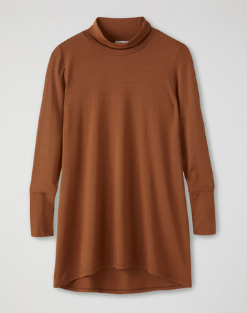 Soft Longline Roll Neck Top