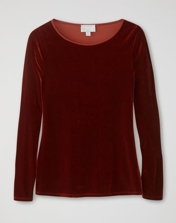Velour Boatneck Top