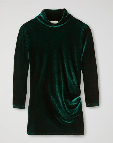 Velour High Neck Top