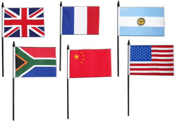 Any Country National Flag  (Desk Flag)