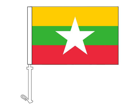 Myanmar - Car Flag