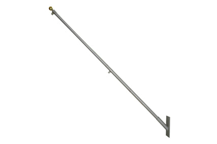 8Ft Wall Mounted Aluminium Flagpole