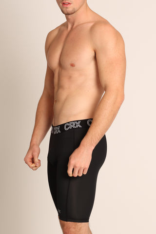 CRX Black Elite Men's Compression Shorts