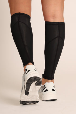 Women's Black Elite Compression Calf Sleeves