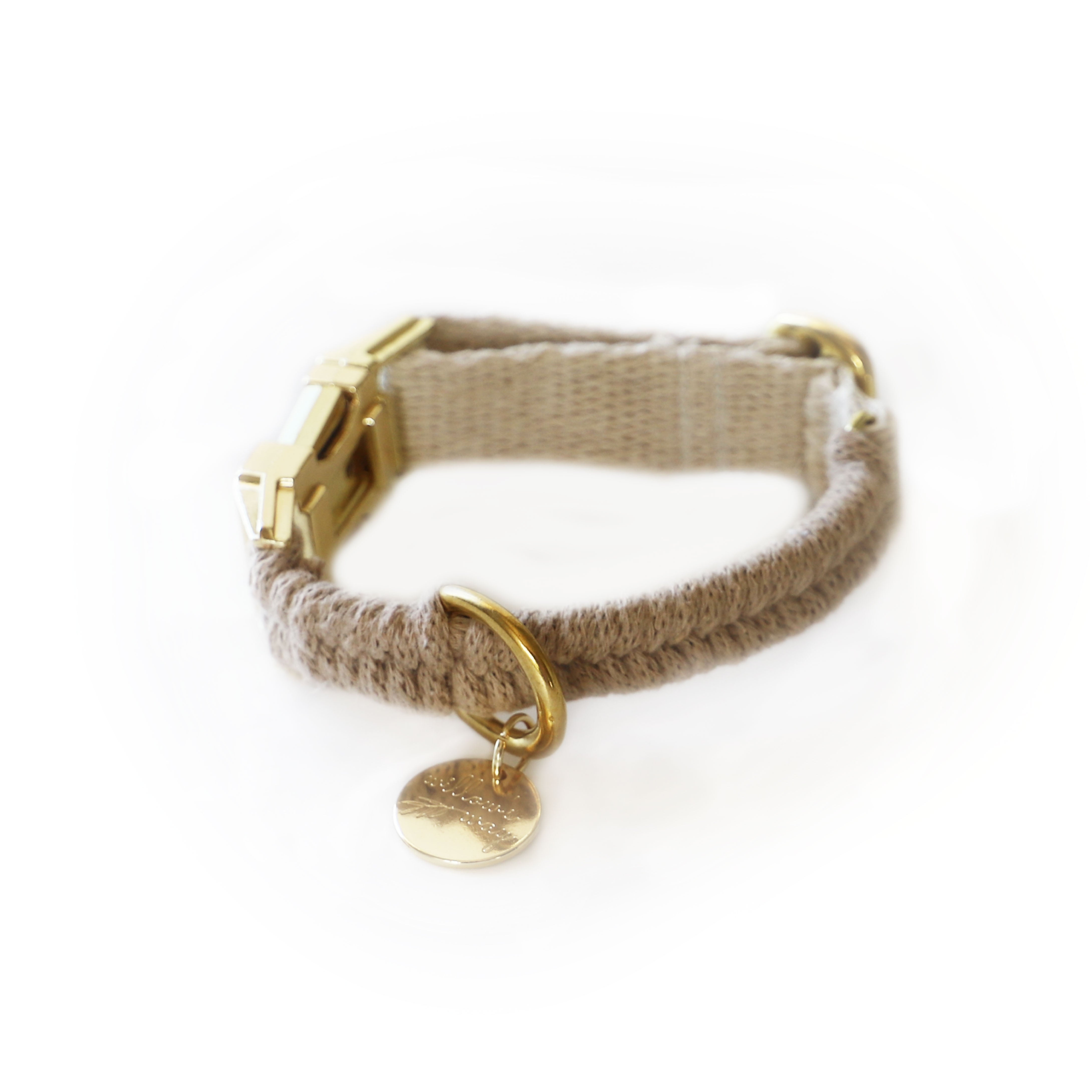 Adjustable Macrame Collar - Sand