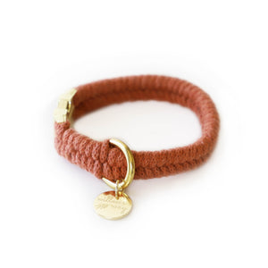 Custom Fit Macrame Collar - Terracotta