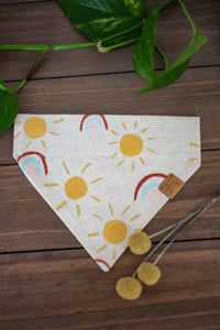 Sunshine & Rainbows Handpainted Bandana