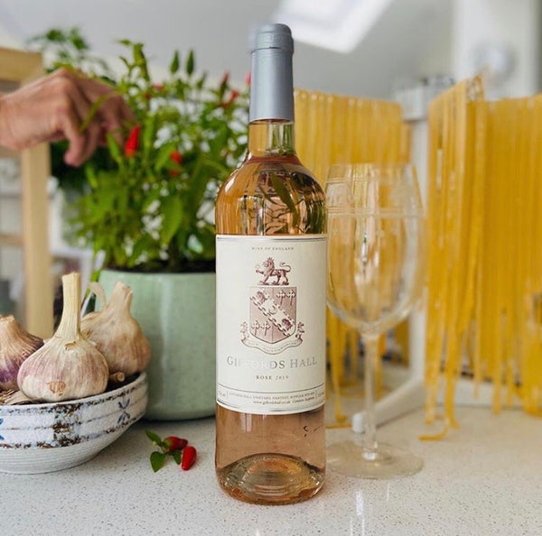 Giffords Hall Rosé wine 2019