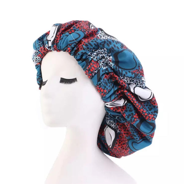 African Print Double Layered Bonnet
