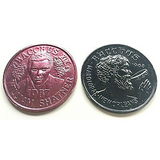 1987 Mardis Gras Doubloon featuring Mr. Shatner's  as King Bacchus of Mardis Gras