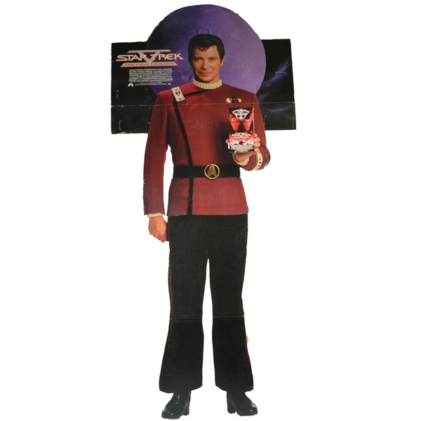 Rare 1989 Star Trek V Captain Kirk Promotional Standee