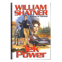 Shatner Archives - Tek Power Hardbound Book First Edition - residue on cover