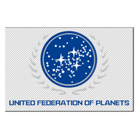 United Federation of Planets Large Window Sticker