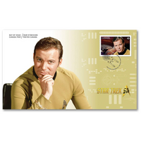 Star Trek 50th Anniversary- Captain Kirk Official First Day Cover Canada Postage Stamp