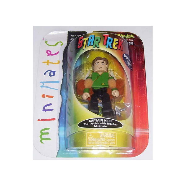 2003 Art Asylum Captain Kirk Minimate Action Figure with Tribbles - Limited Edition Figure