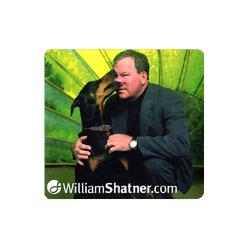 Original WilliamShatner.com Mousepad featuring Mr. Shatner with his Dog Charity