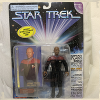 "Free Product - Deep Space Nine Commander Benjamin Sisko with Skybox Card 4.5"" Action Figure"