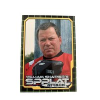 William Shatner Spplat Attack Trading Card - Rare, Out of Print