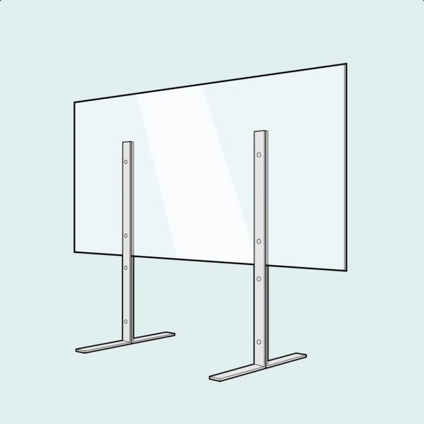 Counter Stand Sneeze Guard - Portable