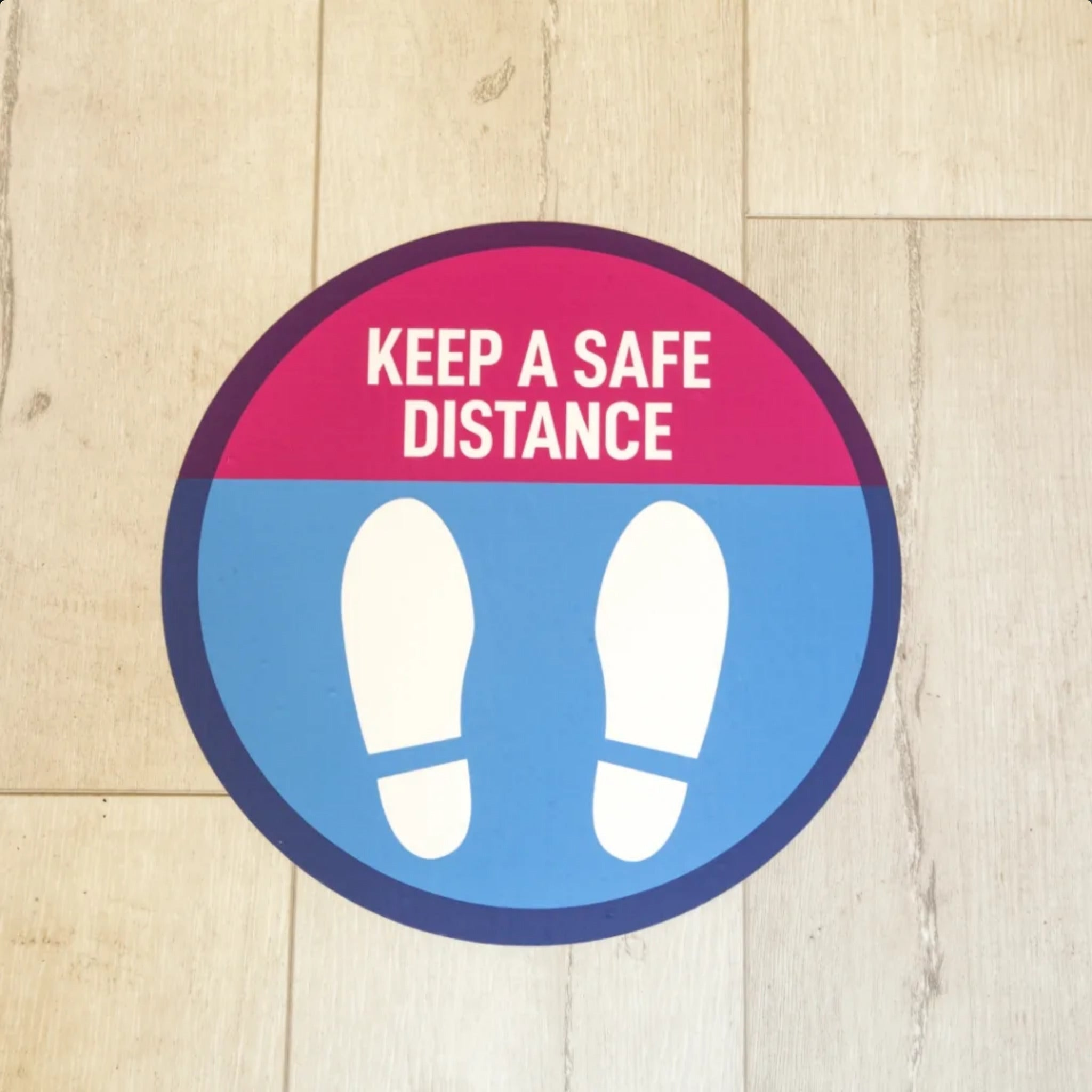 Keep A Safe Distance Floor Sign