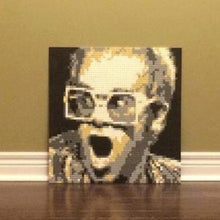 "Load image into Gallery viewer, Lego Mosaic ""Elton John"" by Jack Ferdman w/COA"